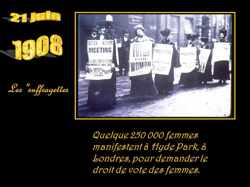 21 juin 1908. Les suffragettes.