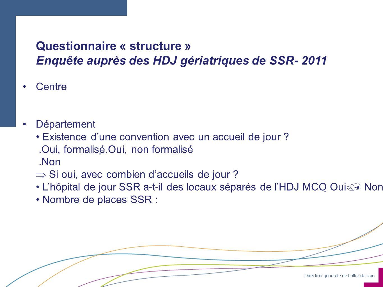 Questionnaire « structure »