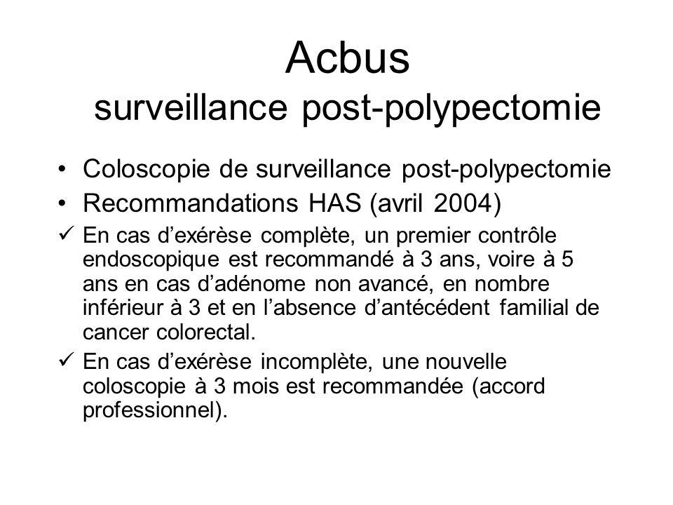Acbus surveillance post-polypectomie