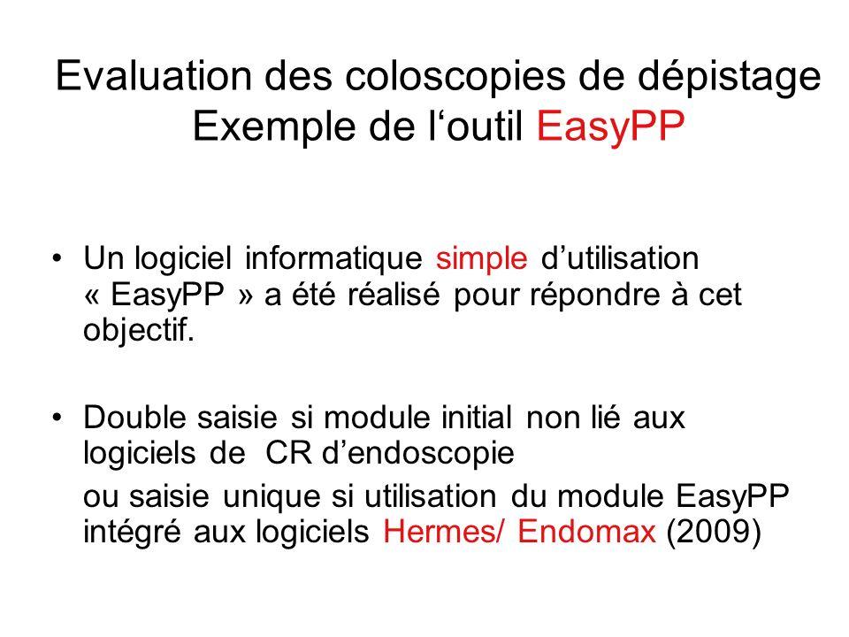 Evaluation des coloscopies de dépistage Exemple de l'outil EasyPP