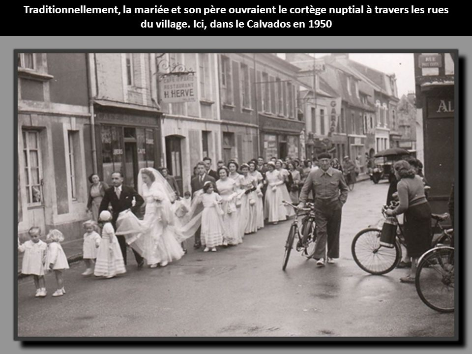 du village. Ici, dans le Calvados en 1950