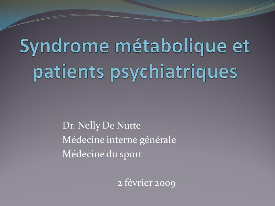 Syndrome métabolique et patients psychiatriques