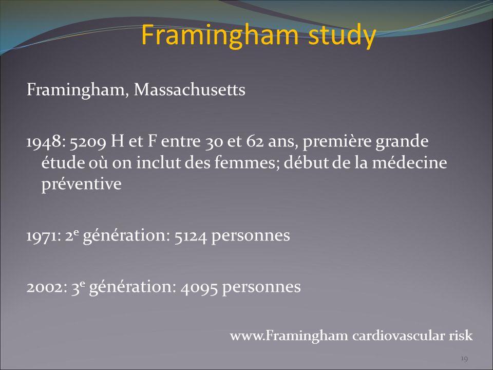 Framingham study Framingham, Massachusetts