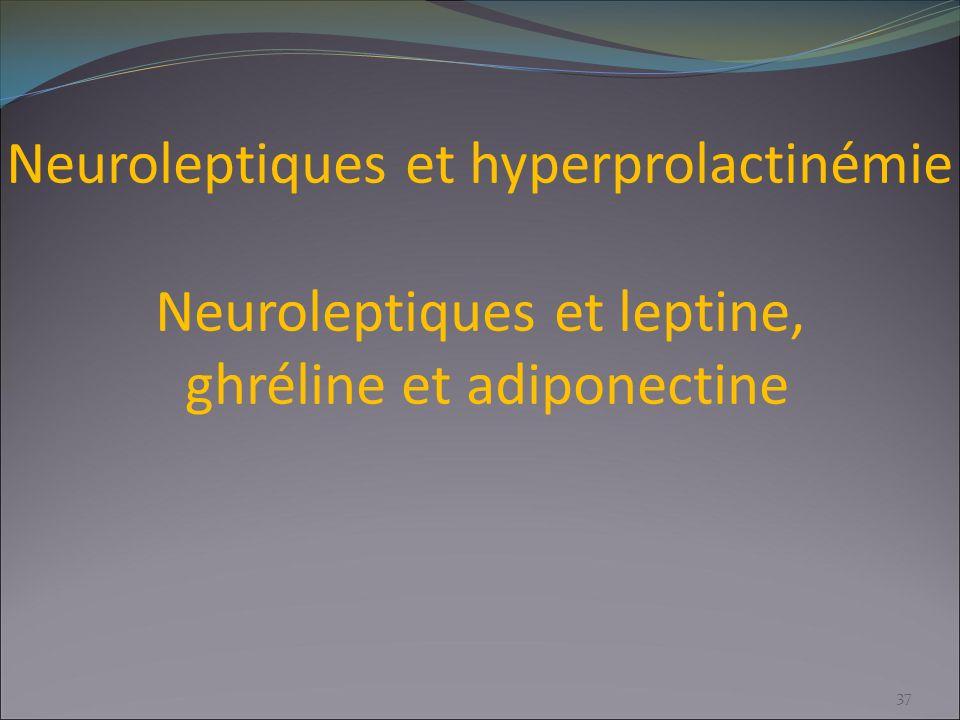 Neuroleptiques et hyperprolactinémie Neuroleptiques et leptine, ghréline et adiponectine