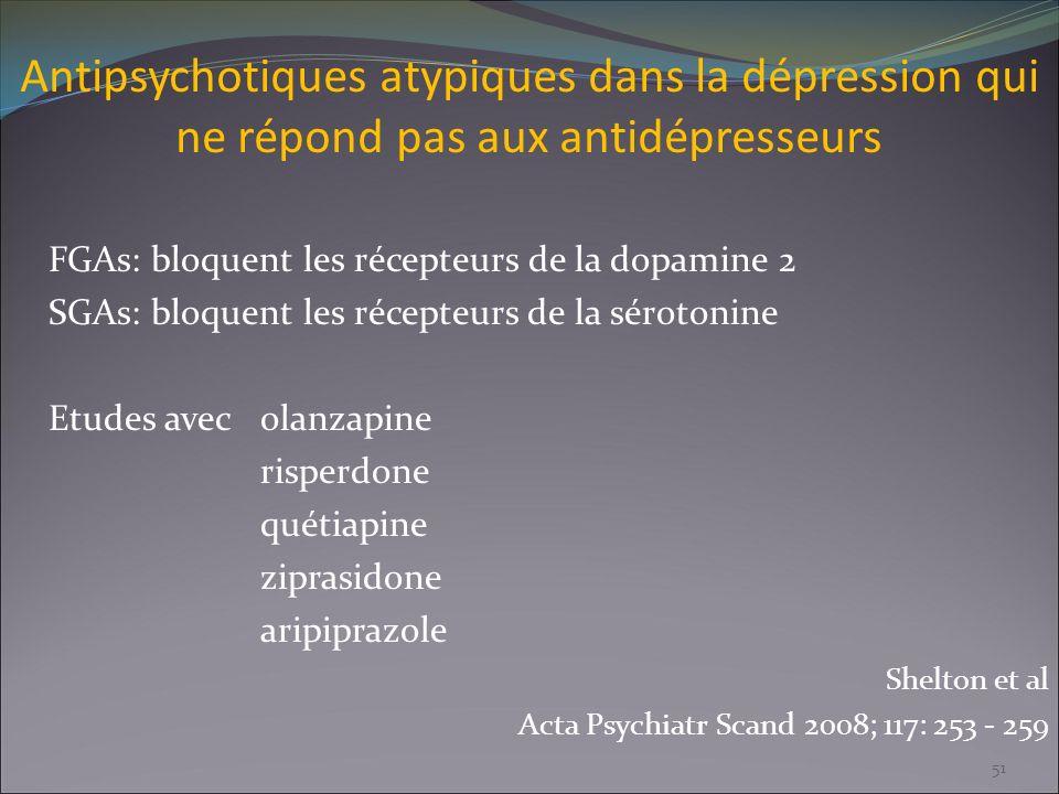 Antipsychotiques atypiques dans la dépression qui ne répond pas aux antidépresseurs