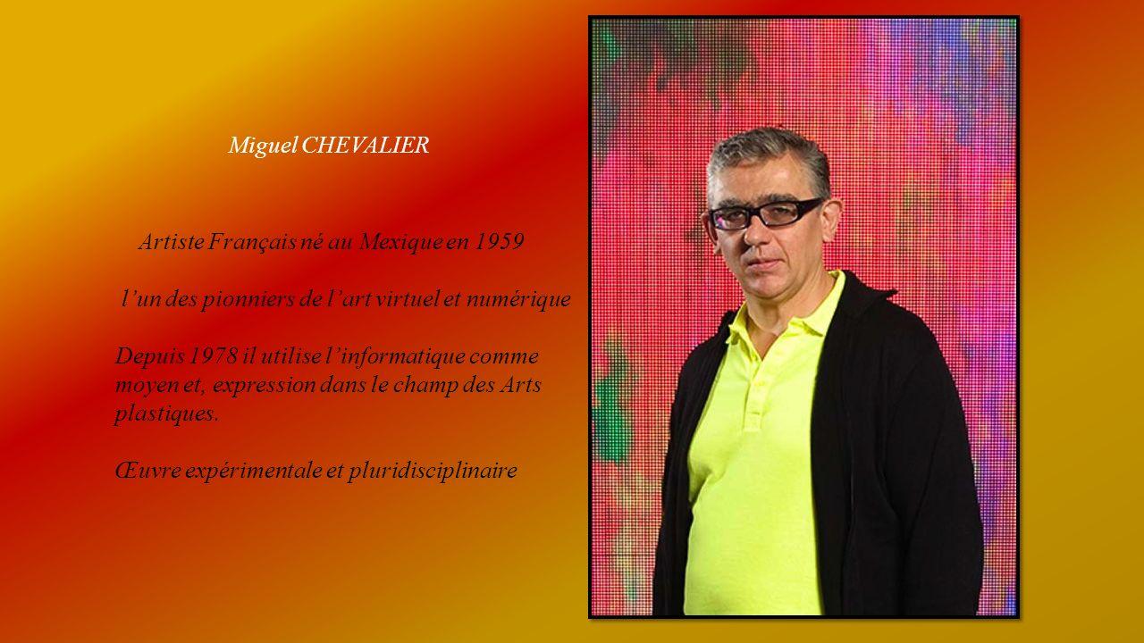 Miguel CHEVALIER Artiste Français né au Mexique en 1959. l'un des pionniers de l'art virtuel et numérique.