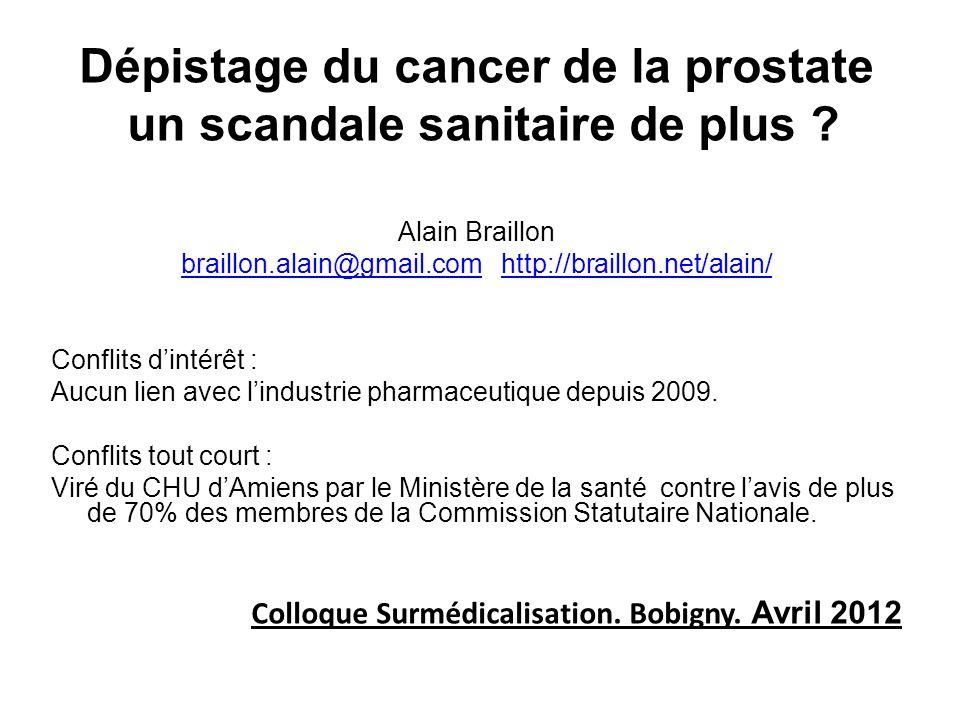 Dépistage du cancer de la prostate un scandale sanitaire de plus