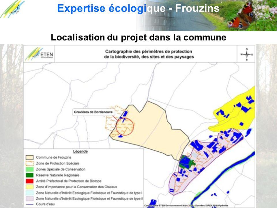 Expertise écologique - Frouzins Localisation du projet dans la commune