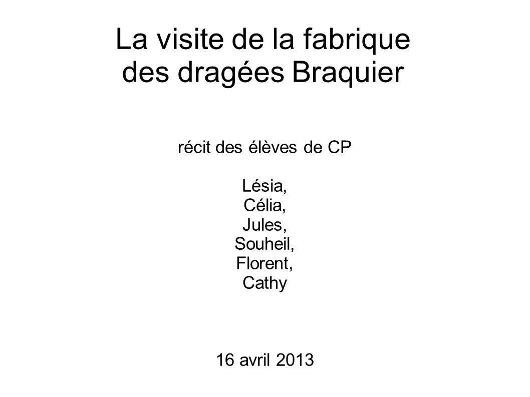 La visite de la fabrique des dragées Braquier