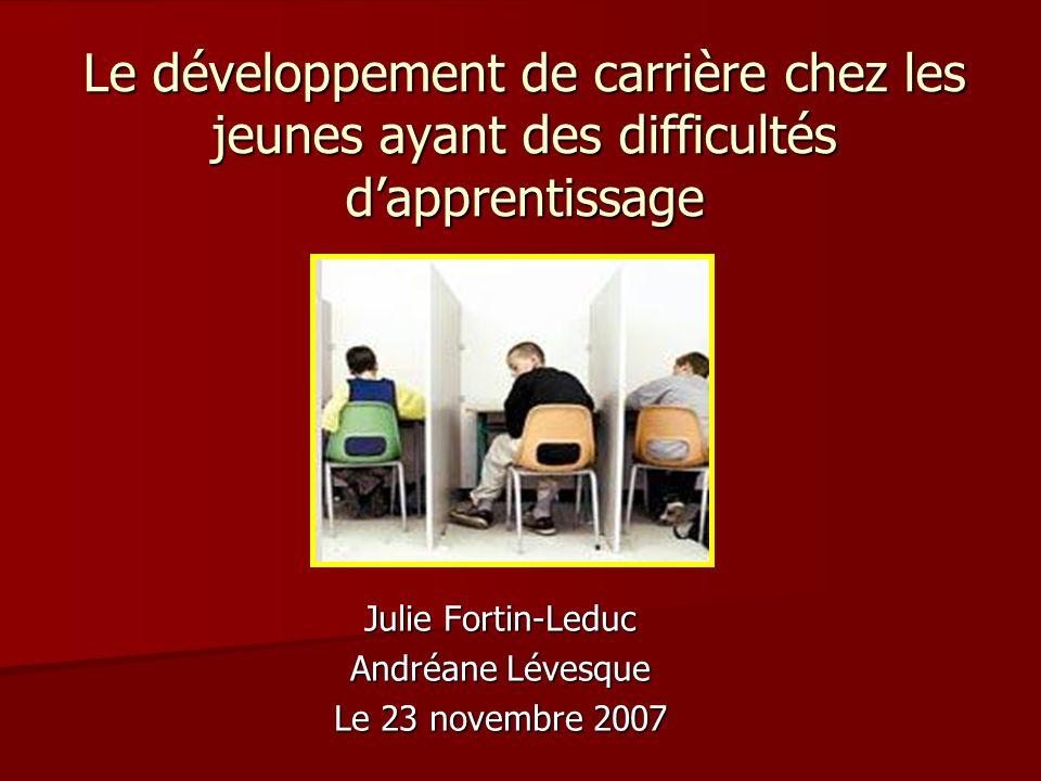 Julie Fortin-Leduc Andréane Lévesque Le 23 novembre 2007