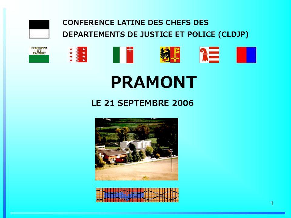 CONFERENCE LATINE DES CHEFS DES DEPARTEMENTS DE JUSTICE ET POLICE (CLDJP)