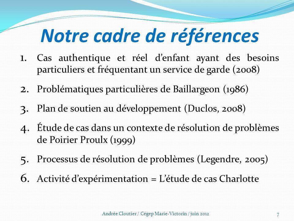 Notre cadre de références