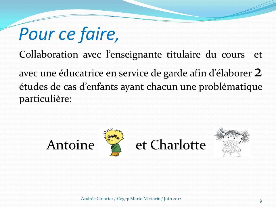 Andrée Cloutier / Cégep Marie-Victorin / Juin 2012