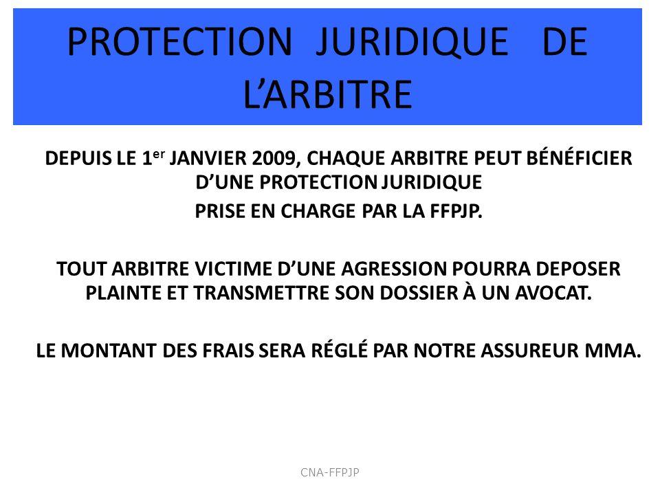 PROTECTION JURIDIQUE DE L'ARBITRE