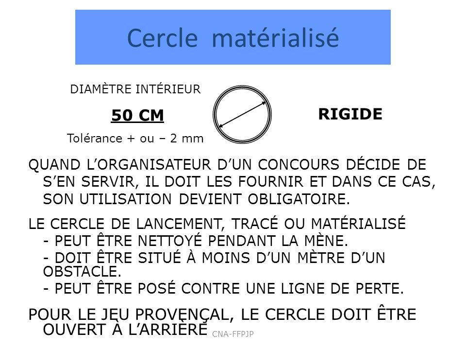 Cercle matérialisé RIGIDE