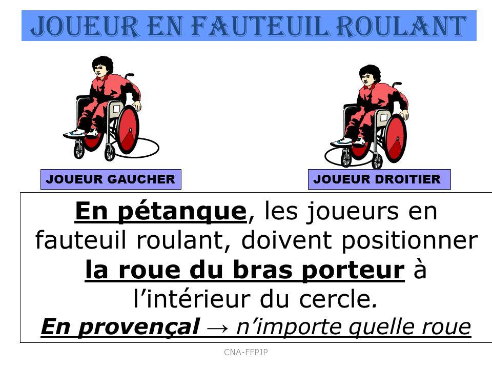 JOUEUR EN Fauteuil roulant