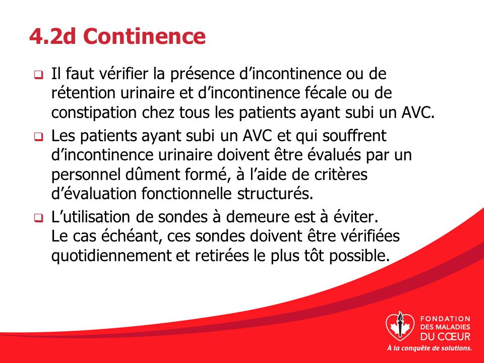 4.2d Continence