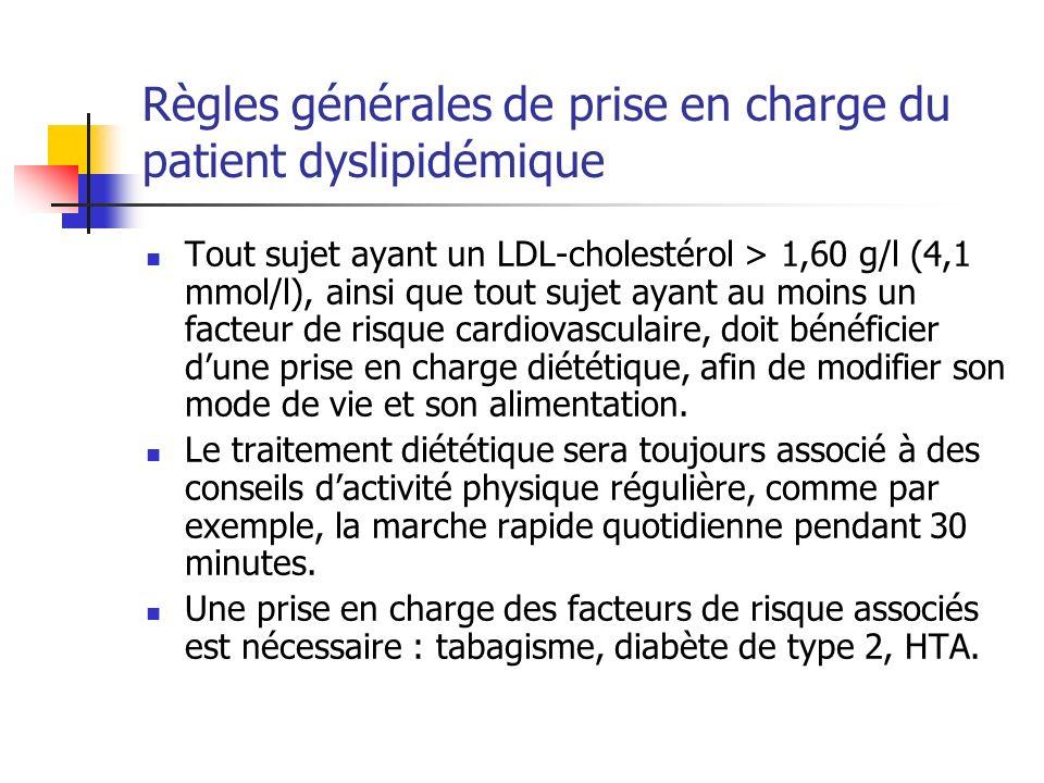 Règles générales de prise en charge du patient dyslipidémique