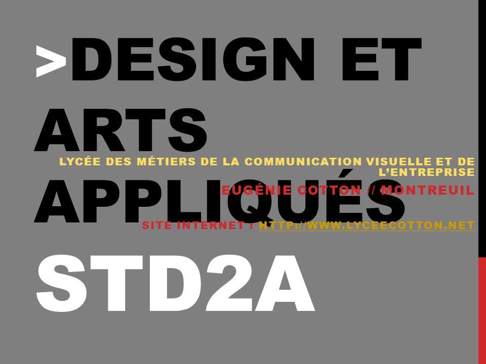 >design et arts appliqués STD2A