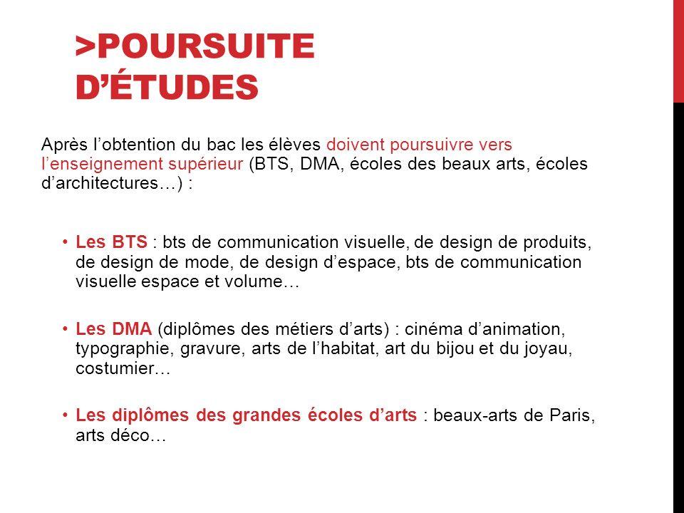 >POURSUITE D'ÉTUDES