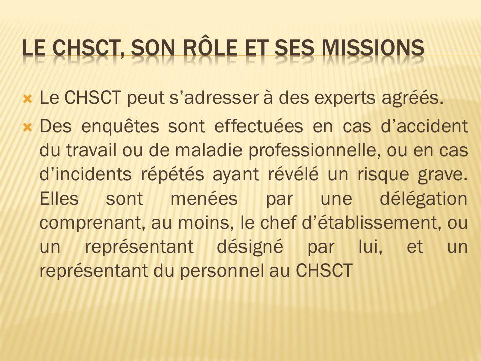 Le chsct, son rôle et ses missions