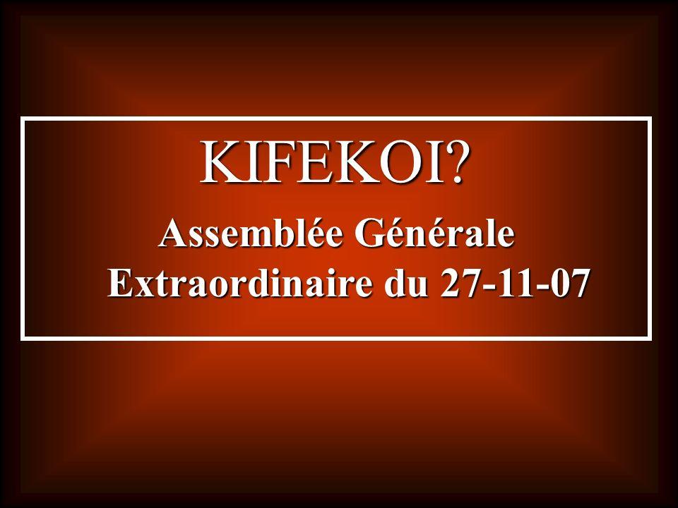 Assemblée Générale Extraordinaire du 27-11-07