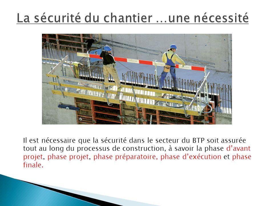 La sécurité du chantier …une nécessité