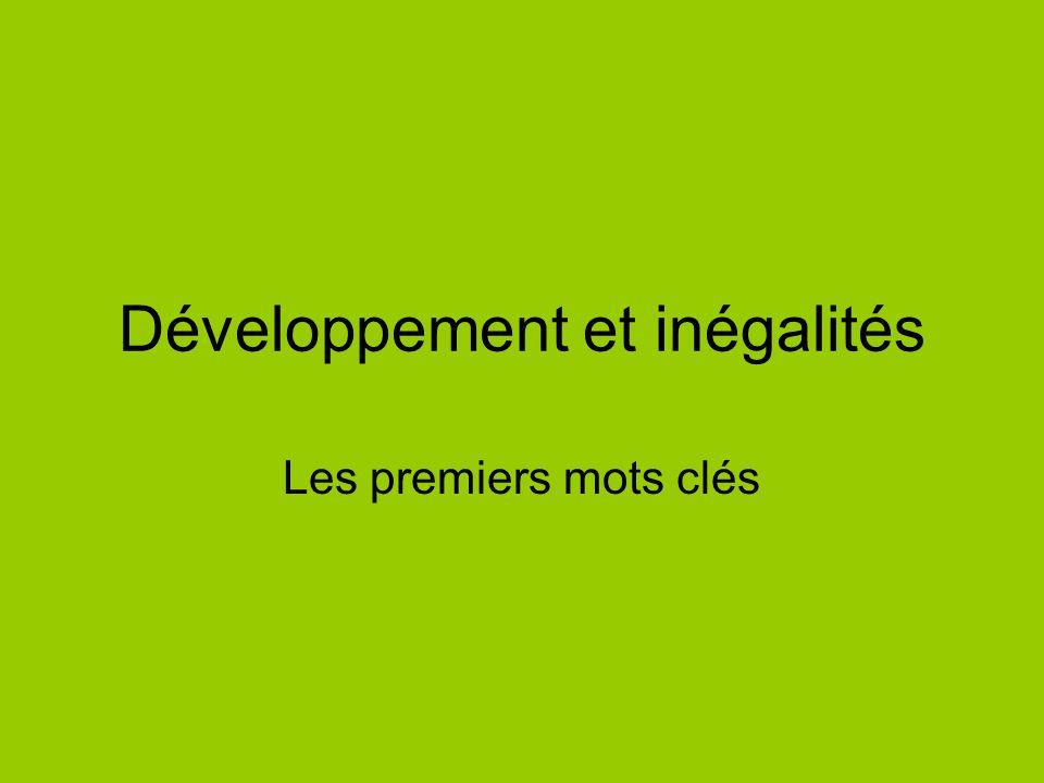 Développement et inégalités