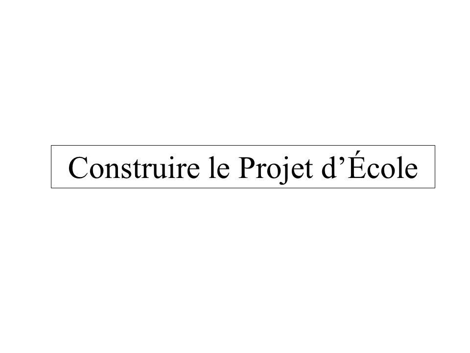 Construire le Projet d'École