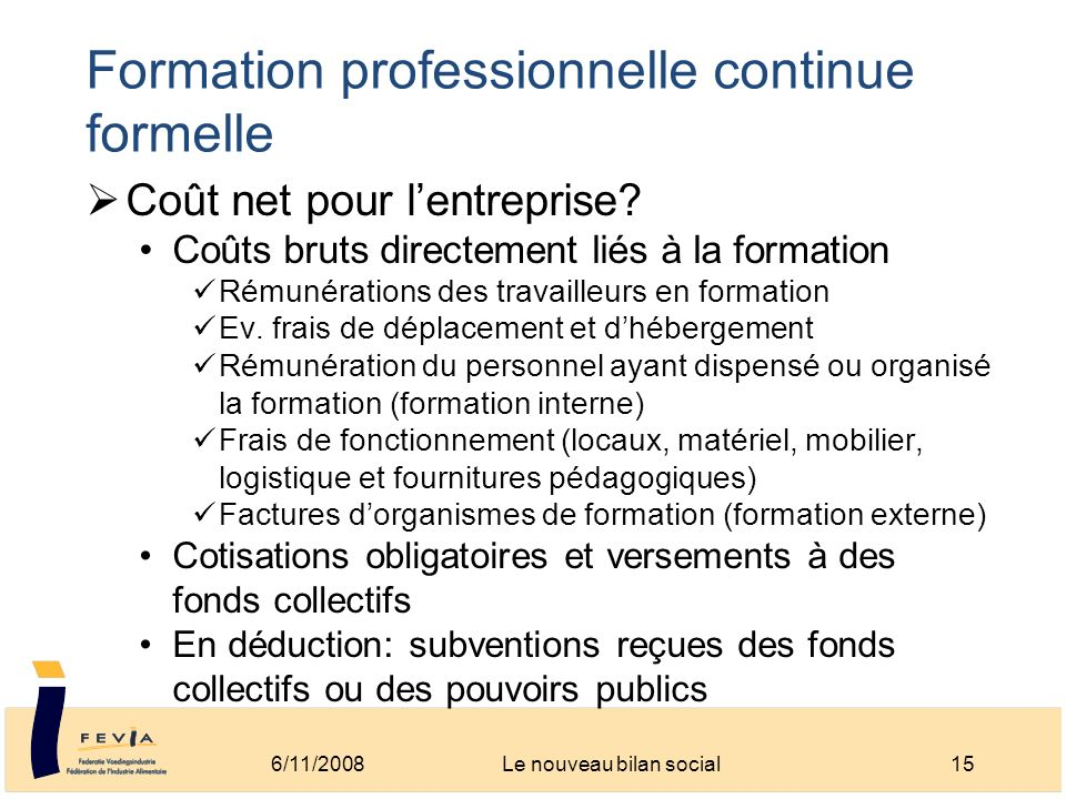 Formation professionnelle continue formelle