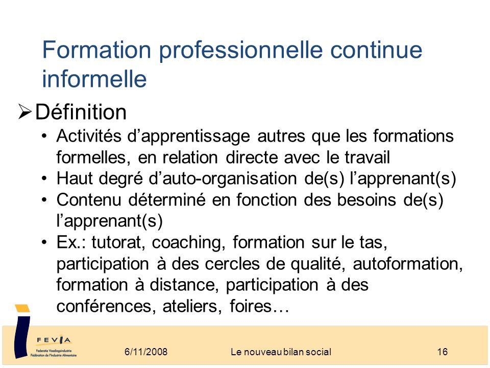 Formation professionnelle continue informelle