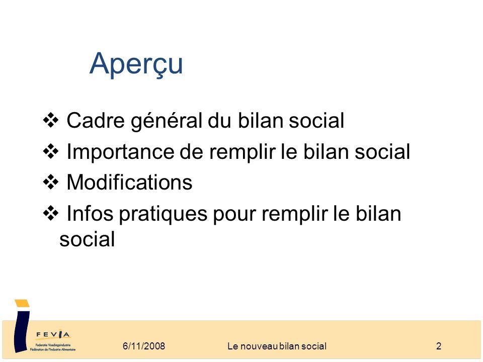 Le nouveau bilan social