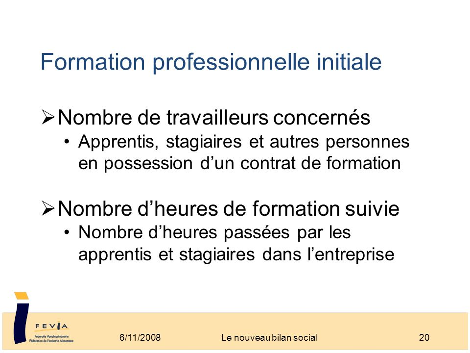 Formation professionnelle initiale