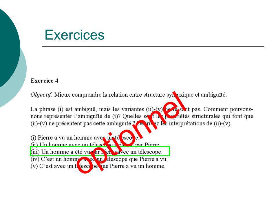 Exercices optionnel