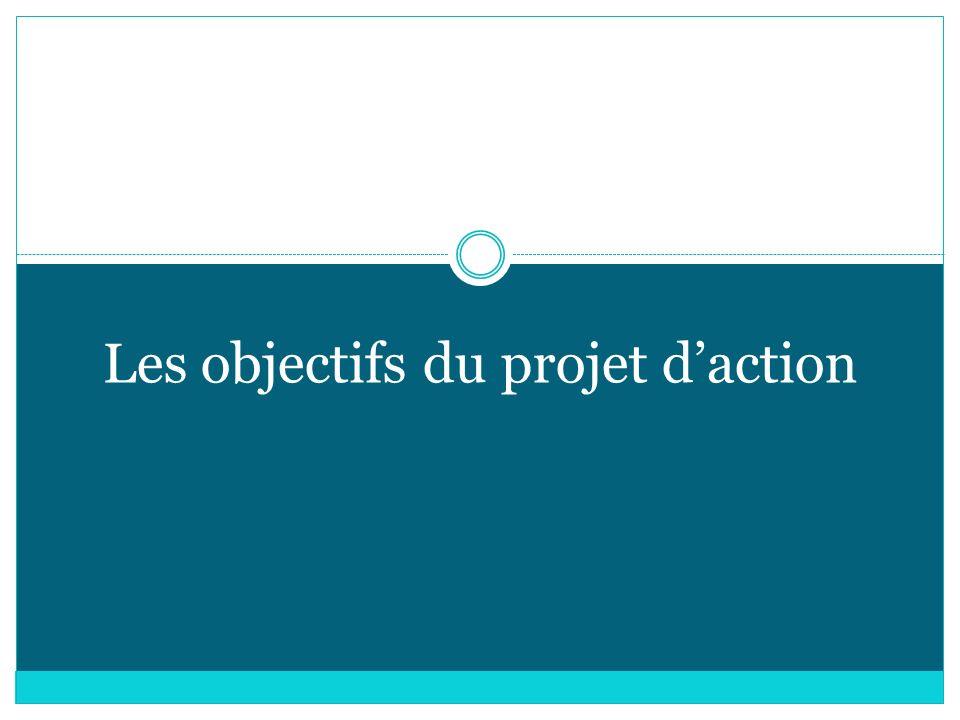 Les objectifs du projet d'action