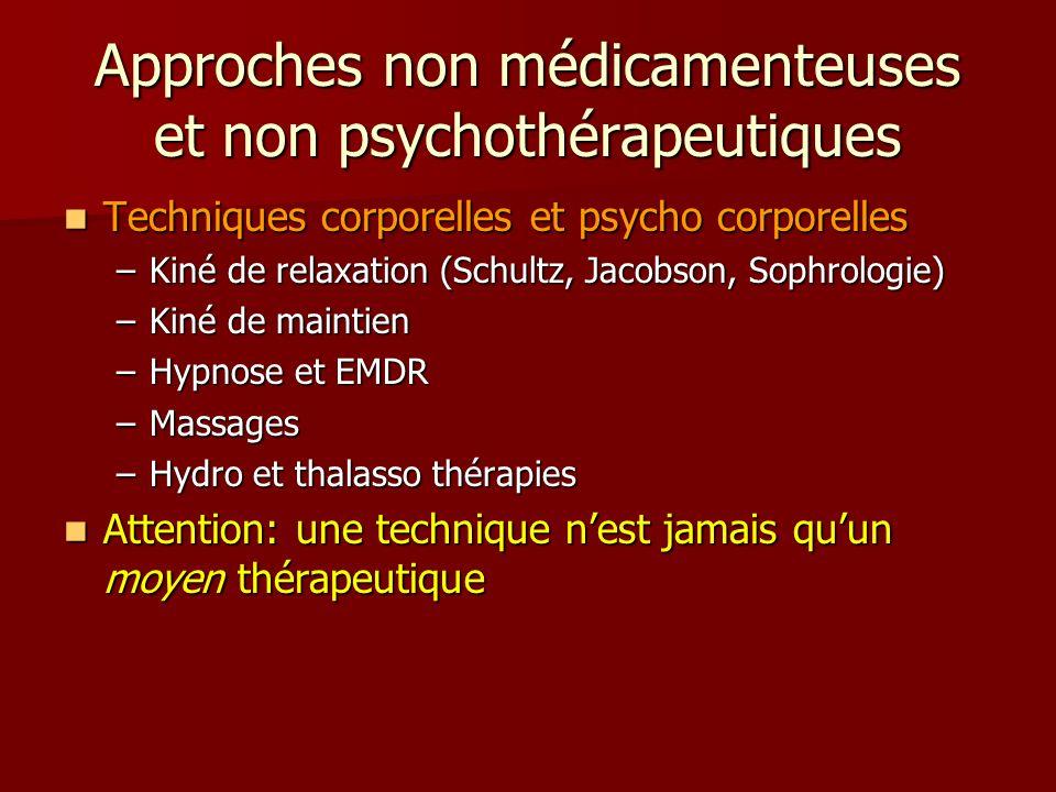 Approches non médicamenteuses et non psychothérapeutiques
