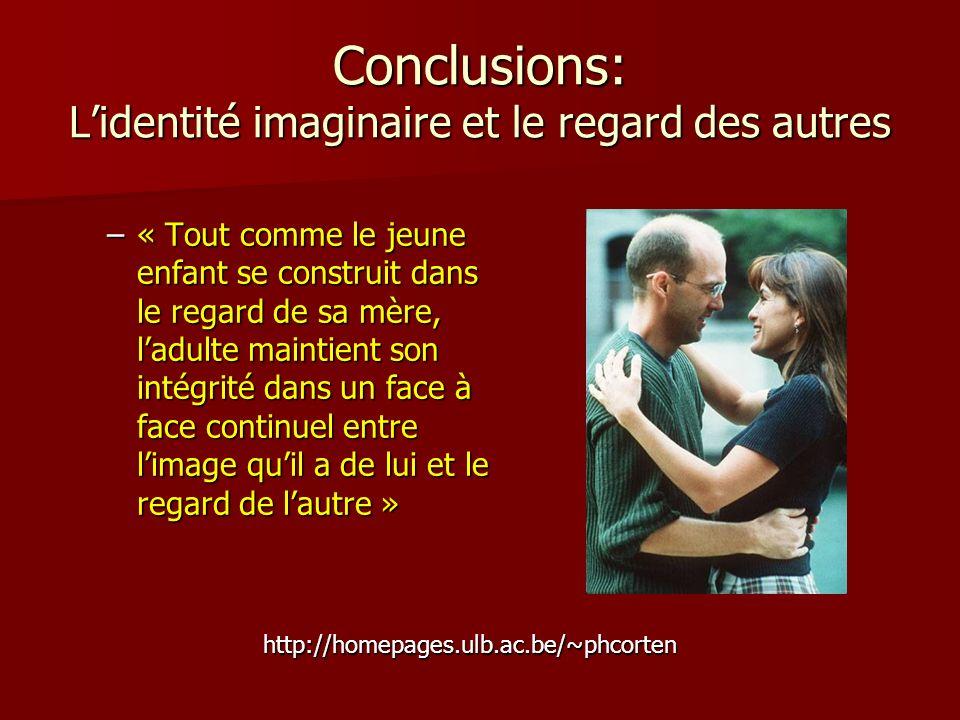 Conclusions: L'identité imaginaire et le regard des autres