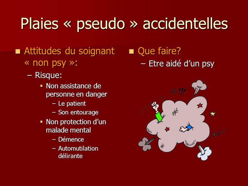 Plaies « pseudo » accidentelles