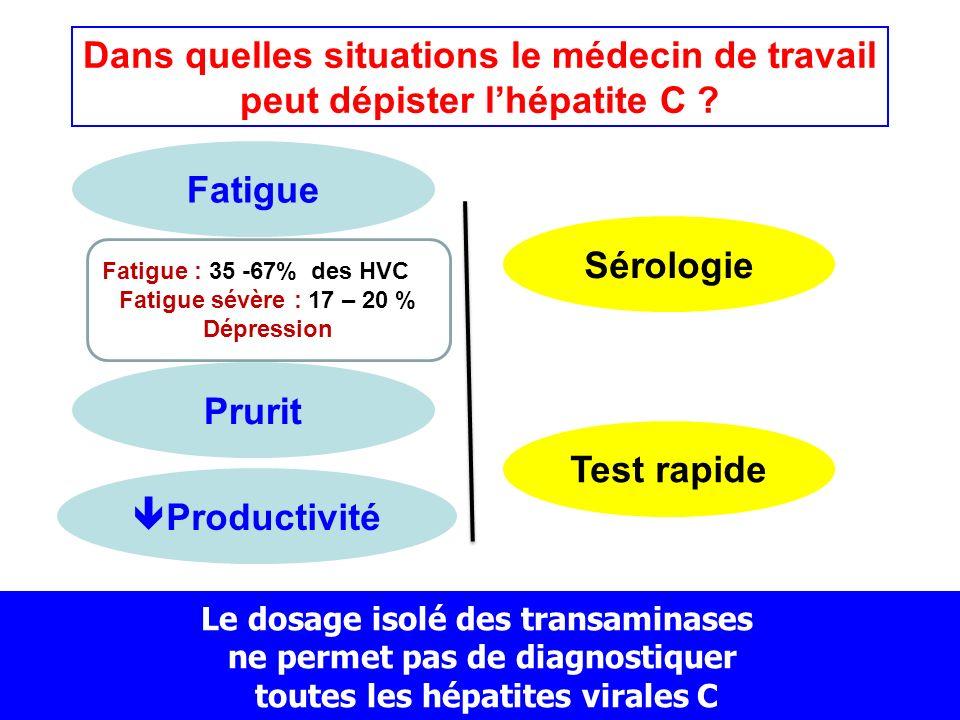 Dans quelles situations le médecin de travail peut dépister l'hépatite C