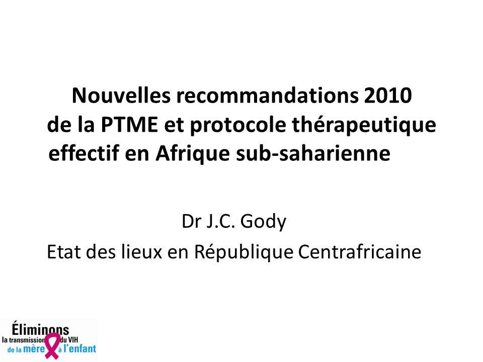 Dr J.C. Gody Etat des lieux en République Centrafricaine
