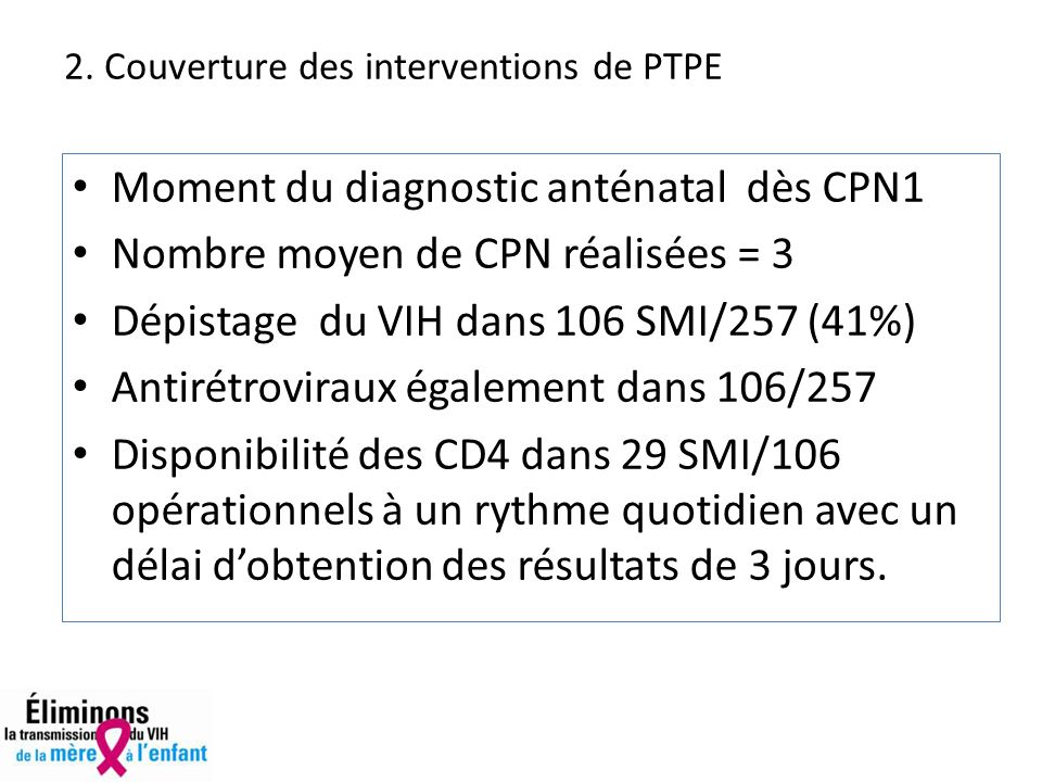 2. Couverture des interventions de PTPE
