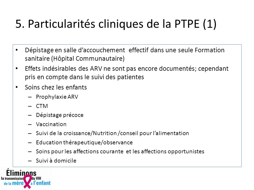 5. Particularités cliniques de la PTPE (1)