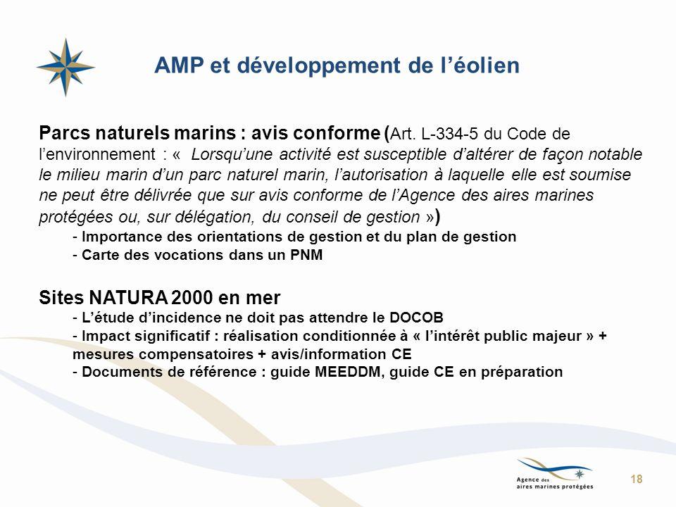 AMP et développement de l'éolien