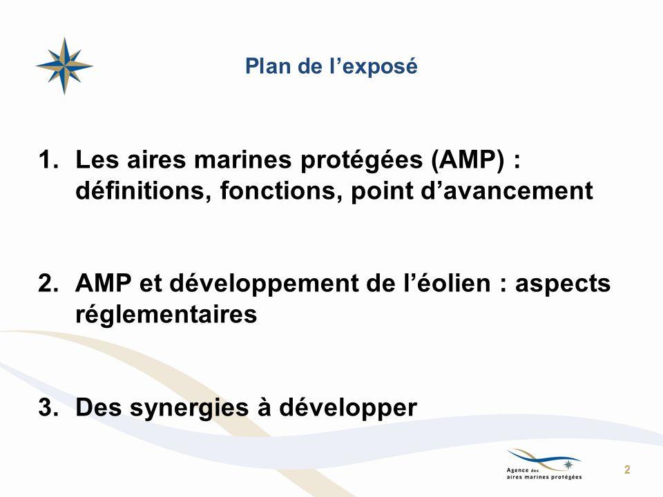 AMP et développement de l'éolien : aspects réglementaires