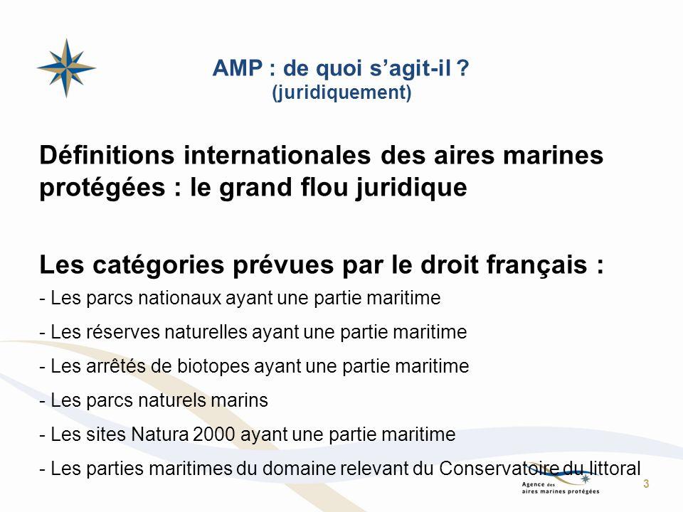 Les catégories prévues par le droit français :