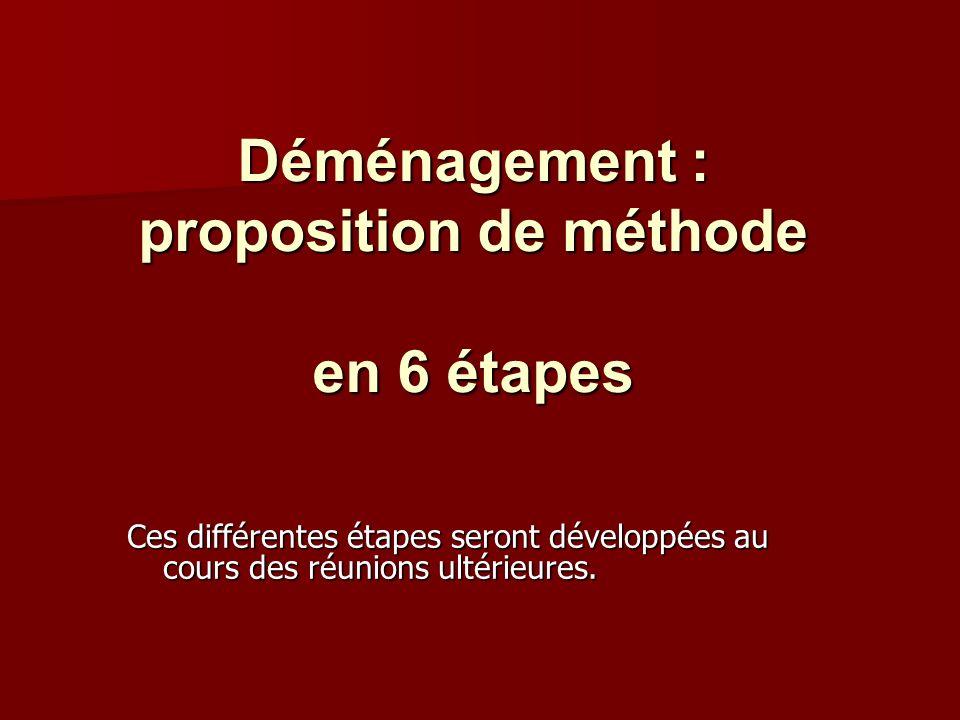 Déménagement : proposition de méthode en 6 étapes