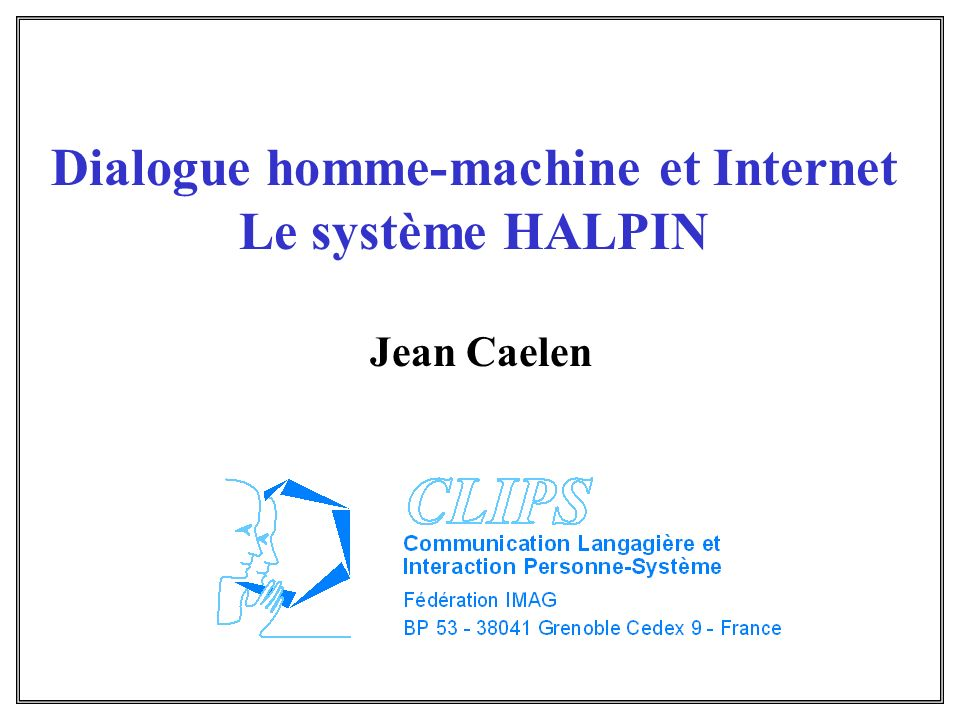 Dialogue homme-machine et Internet