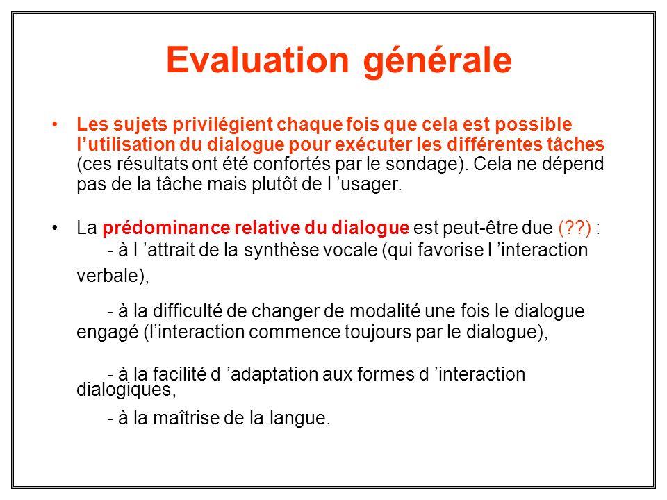 Evaluation générale