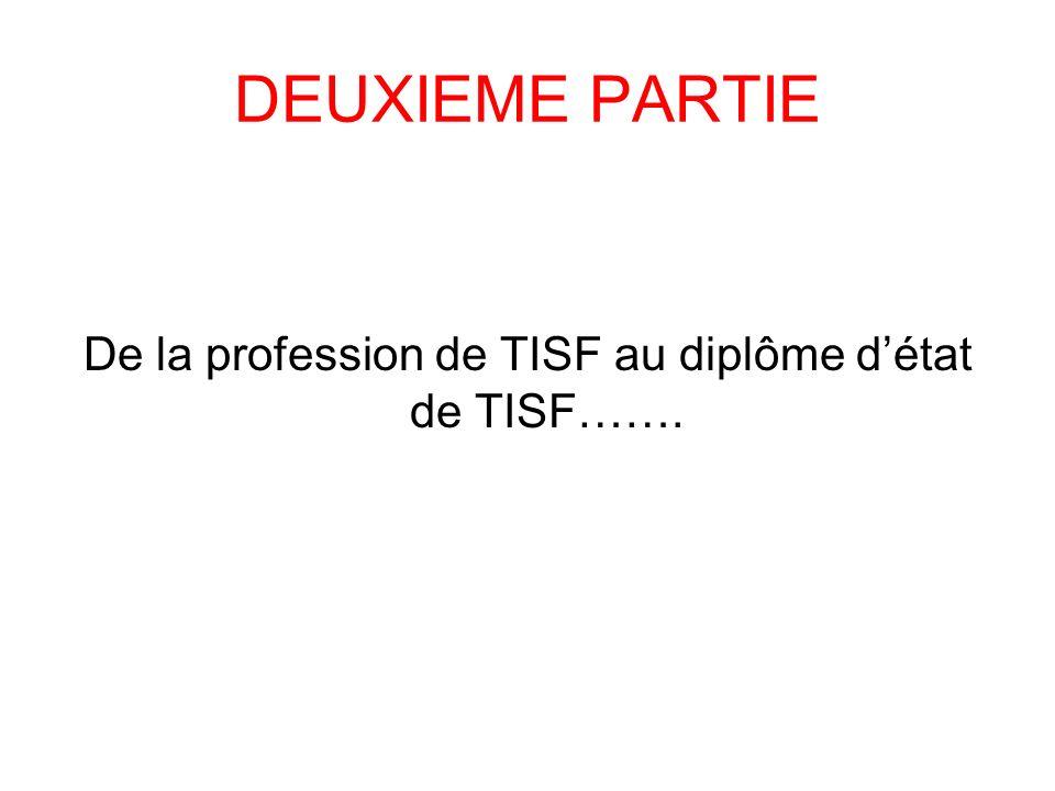 De la profession de TISF au diplôme d'état de TISF…….