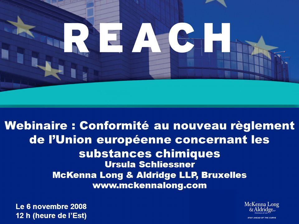 Webinaire : Conformité au nouveau règlement de l'Union européenne concernant les substances chimiques